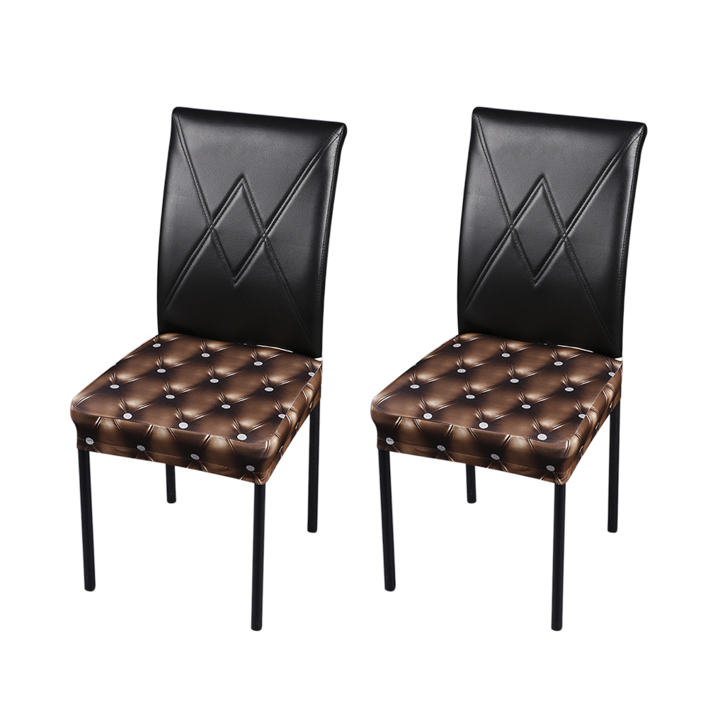 Fine Us 7 45 37 Off 2Pcs 3D Printing Chair Cover Spandex Stretchable Dining Chair Seat Covers Ceremony Chair Slipcovers Wedding Events Decoration In Bralicious Painted Fabric Chair Ideas Braliciousco