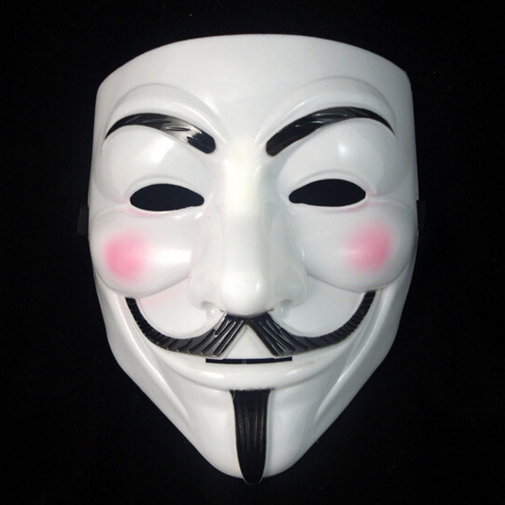 f7678d88f2 Hot Sale White Gold Silver Yellow V for Vendetta Guy Fawkes Mask Anonymous