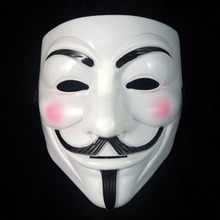 Hot Sale White/Gold/Silver/Yellow V for Vendetta Guy Fawkes Mask Anonymous Halloween Cosplay Costumes Party Supplies Scary prop