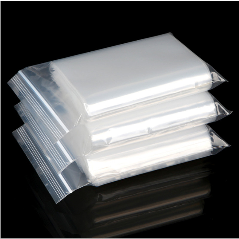 Heavy Duty Clear Zipper Seal Zip Lock Top Reclosable Poly Plastic Bags white clear self seal zipper plastic bags zip lock bag