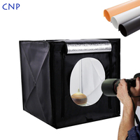 CNP Light Box 40CM LED Dimmable Portable Photography Tent Studio Softbox Phone Lightbox With Background for Jewelry Toy Shooting