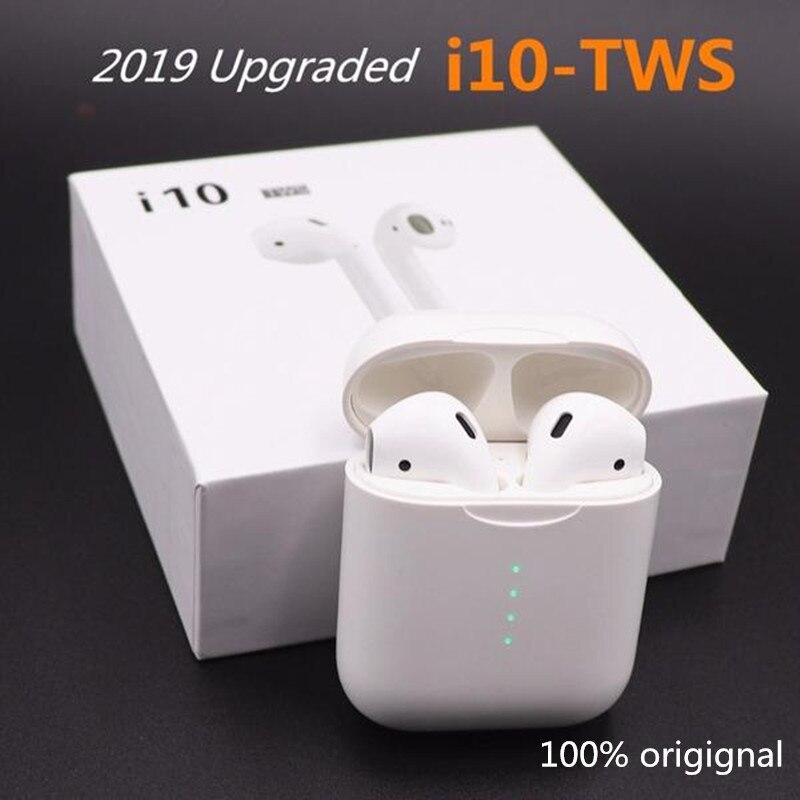 Écouteurs Bluetooth d'origine i10 TWS contrôle tactile 1:1 taille avec port de chargeur de type C pour tous les smartphones PK i30 tws i20 tws i12