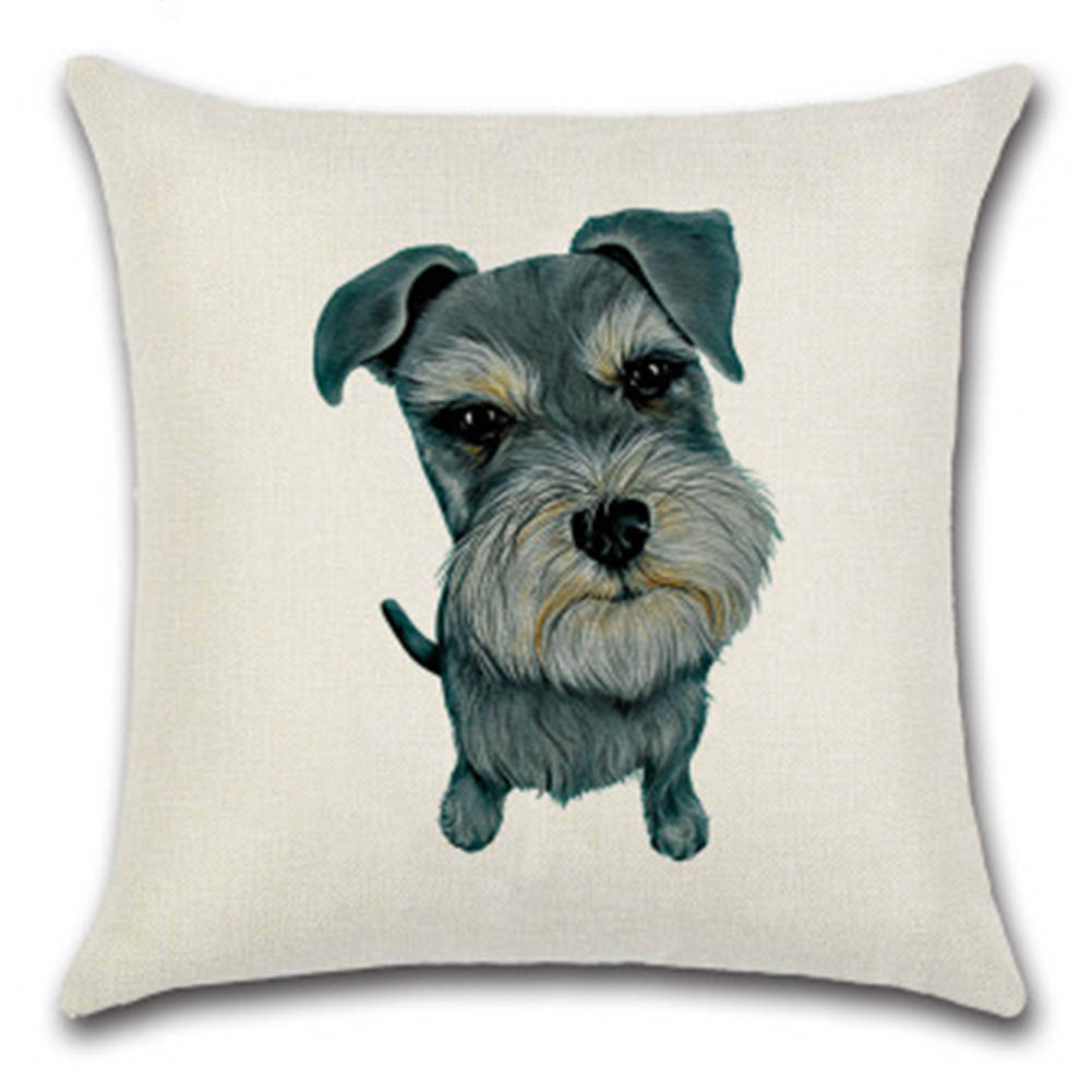 Cute Animals Pet Dog Pattern Cushion Cover For Sofa Home Decor 45x45cm Decorative Throw Pillowscase Drop Shipping Matching In Colour Home Textile Table & Sofa Linens