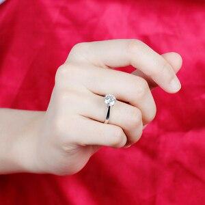 Image 5 - Transgems 14K 585 White Gold Moissanite Diamond Engagement Ring for Women Fine Jewelry Center 2ct F Color Moissanite Ring