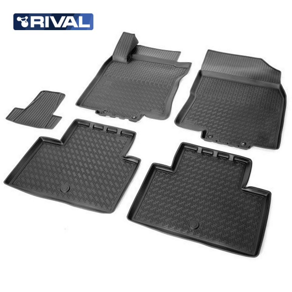 3D floor mats into saloon for Nissan X-Trail T32 2015-2019 5 pcs/set (Rival 14109001) 3d floor mats into saloon for nissan x trail t32 2015 2019 5 pcs set rival 14109001