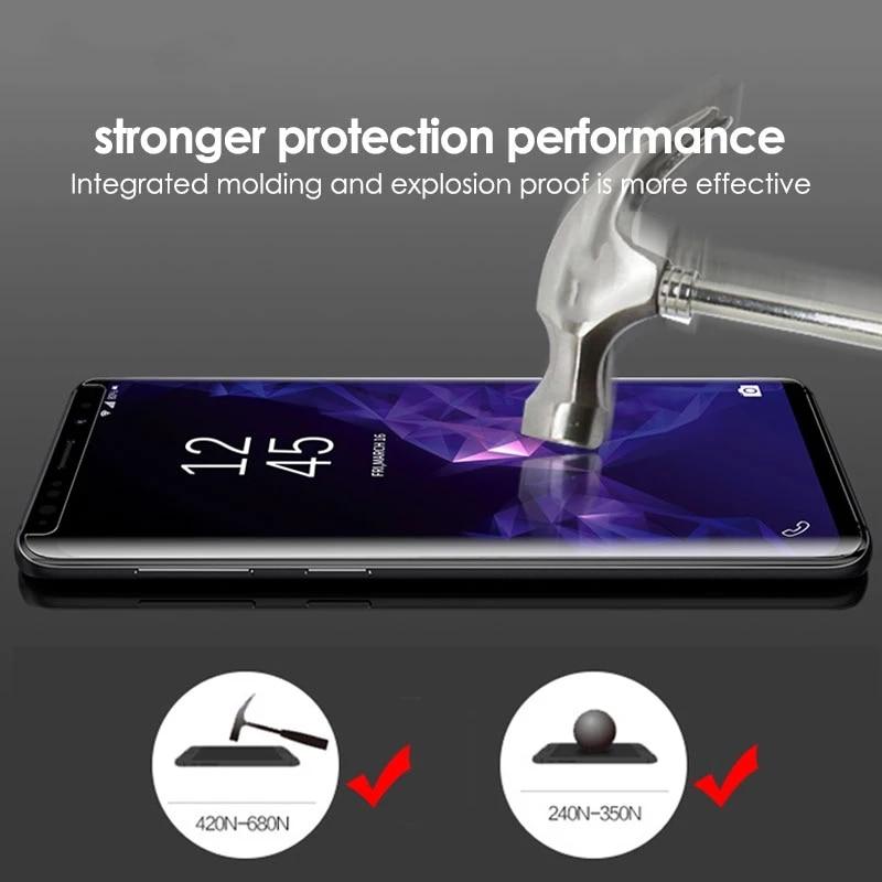 For Samsung s9 plus s8 s10 full glue tempered glass UV Nano Liquid protective film for Galaxy note 8 9 s7 edge screen protector