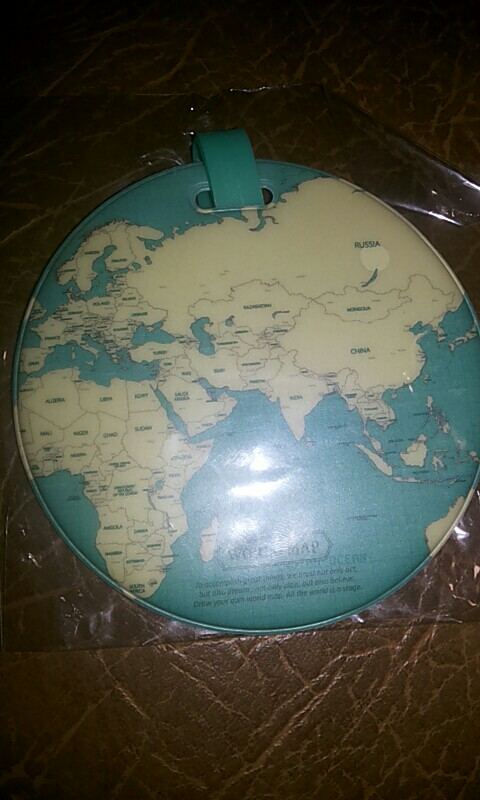 Map Of The World Luggage Tag photo review