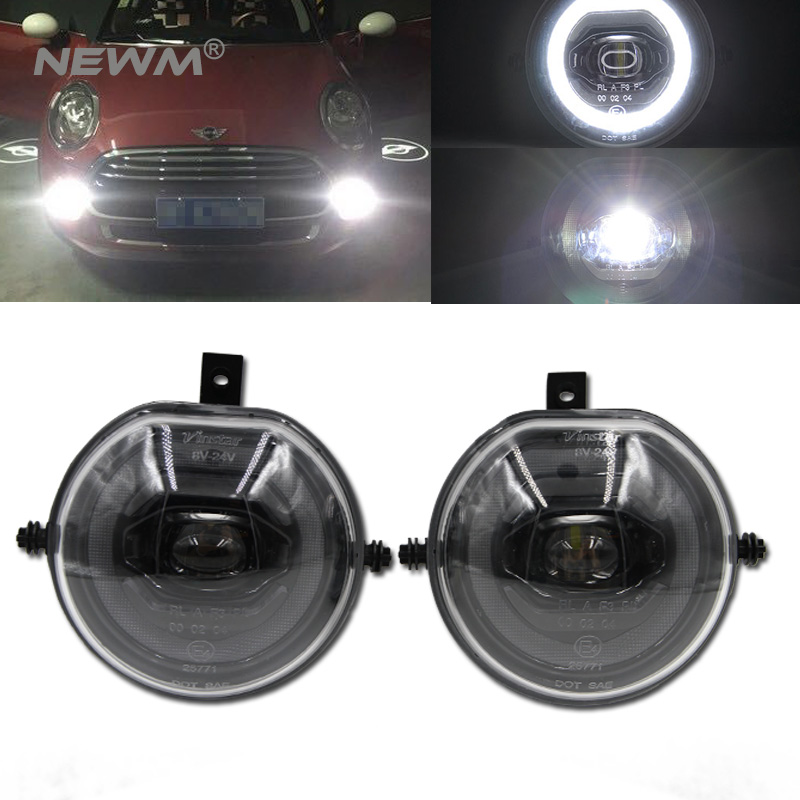 1 Pair Led Halo Ring Drl Parking Light Fog Lamps For Mini Cooper S F54 Clubman F55 5 Door F56 3 Hatchback Convertible In Car Embly From