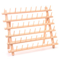 Practical Wood Tailor Thread Rack 60 Spool Sewing Embroidery Thread Organizer Storage Holder Sewing Accessories Tools