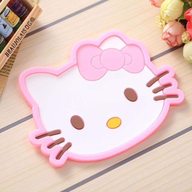8 Uds lindo de silicona Copa almohadillas animales búho de Totoro Minions Kitty comedor posavasos individuales de mesa de Bar de cocina estera para taza