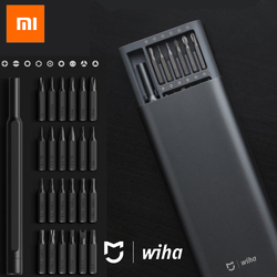 100%Xiaomi Mijia Wiha Daily Use Screw Kit 24 Precision Magnetic Bits Alluminum Box Screw Driver xiaomi smart home Kit