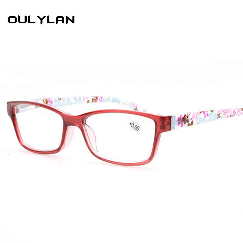 260bbd51325 Oulylan Fashion Unbreakable Reading Glasses Women Men Ultralight Anti  Fatigue Flower Temple Presbyopic Glasses Diopter +
