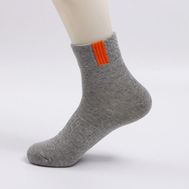 VERIDICAL 5 pairs/lot 100 cotton short socks for men compression weed socks Solid Professional boy,men happy socks werk sokken