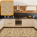 Желтый пол коричневый кофе рисунок дизайн 3d печать Нескользящая микрофибра кухня современный декоративный моющийся коврик
