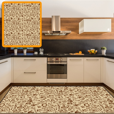 Else Yellow Floor Brown Coffee Figure Designs 3d Print Non Slip Microfiber Kitchen Modern Decorative Washable Area Rug Mat