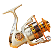 Yumoshi EF500-9000 Metallic Spinning Fishing Reel equipment Fly Wheel For Recent/Salt Water Sea Fishing Spinning Reel Carp Fishing