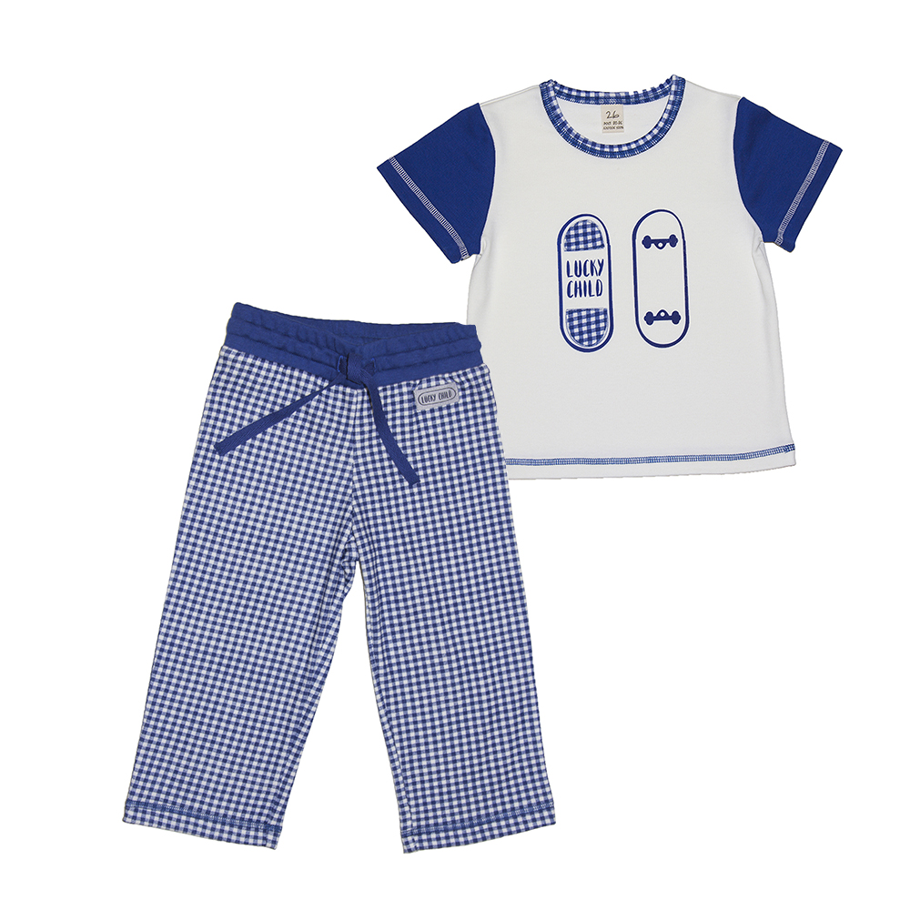 Pajama Sets Lucky Child for boys 13-403 (3T-8T) Children clothes kids clothes spring clothes new pattern girl korean trend fashion leisure time letter girl child cowboy 2 pieces kids clothing suits sets