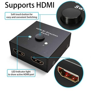 Image 4 - HDMI ספליטר מתאם, מיני HDMI מתג דו כיוונית קלט, ברזולוציה גבוהה, תמיכה Ultra HD 4 K, 3D, 1080 P, עבור HDTV/DVD/DVR וכו .