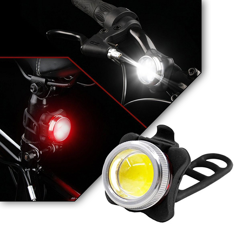 USB Rechargeable Bike Bicycle Circle Rear Tail Light 4//6 Mode LED Back Lamp UK