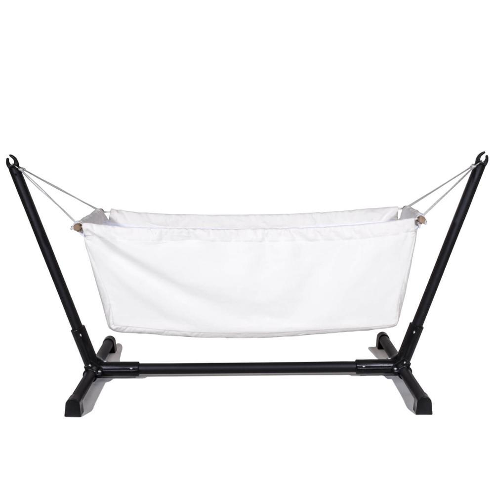 Nursery Organic Raw Fabric Baby Bedding Bassinet Hammock Cradle Crib For Indoor Or Outdoor With Metal Stand By Svava