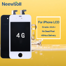 10pcs/lot For iPhone 4G Display Touch Screen Digitizer Assembly Replacement Parts  For iPhone 4G LCD Black White 100% original new for iphone 4 4g lcd display touch screen digitizer frame assembly completed white or black free shipping