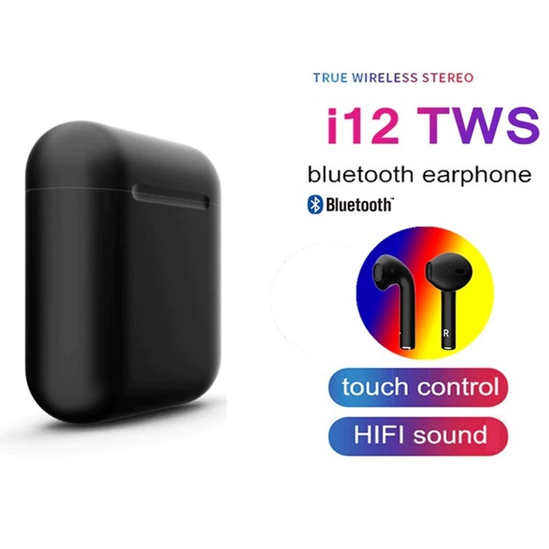 2019 I12 Tws Bluetooth Earphones Earbuds Wireless Touch Control Headsets Mini Sport Headphones For Xiaomi Para