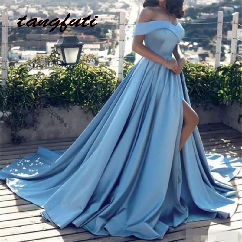 A Line Long Evening Dresses Party Wear V Neck Pleat Evening Party Prom Gowns Formal Dress Beautiful Women On Sale abendkleider