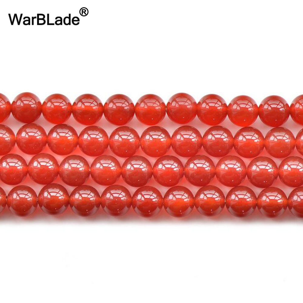 AAAAAA Natural Stone 6A Red Agate Beads Round Loose Beads 4mm 6mm 8mm 10mm 12mm 20mm For DIY Necklace Bracelet Jewelry Making
