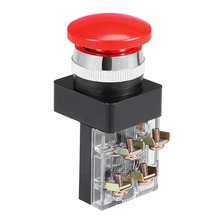 UXCELL 1 PCS 25/30mm Mounting Hole Momentary Push Button Switch Red DPST For Control Of Electromagnetic Starter Switch цена и фото