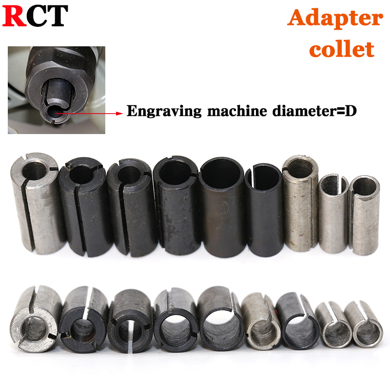 1pcs High Precision Adapter collet shank CNC router tool Adapters holder 12.7mm change to 6.35mm/ 8-6.35/ 8-6/ 12-8mm 6mm size 1pc 12 7mm to 6mm 1 8 inch precision engraving bit cnc router tool adapter for collet wear resistance best price