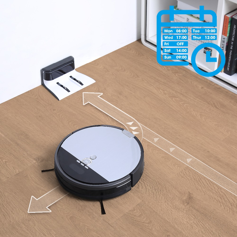 ILIFE V8s Robotic Vacuum Cleaner Vacumming & Wet Mop Navigation Smart Planned Cleaning Automatic Recharging