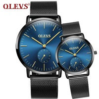 OLEVS 2017 Luxury Brand Lover Watch Waterproof Women Couples Watches Female Wristwatches Quartz Men Stainless Steel