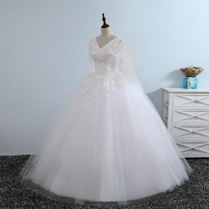 Шифоновое кружевное свадебное платье Dtrss сексуальный вырез сердечко бальное 2019