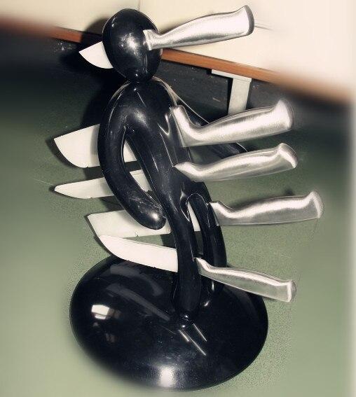 Новинка кухонные подарочные блоки вешалка для рулонов Полка Подставка креативный гуманоидный Магнитный нож из нержавеющей стали держатель с бесплатными ножами