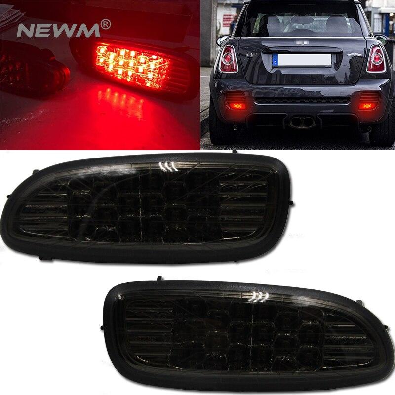 2pcs For 06 09 MINI COOPER S R56 R57 Black Jack Smoke LED Rear Bumper Fog
