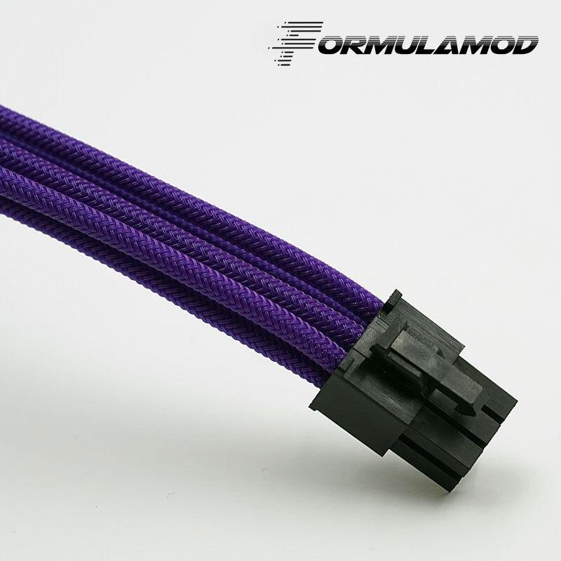 FormulaMod Fm-PCI6P-A, PCI-E 6Pin GPU удлинитель питания, материнская плата 18AWG 6Pin многоцветные соответствующие кабели расширения - Цвет лезвия: Purple