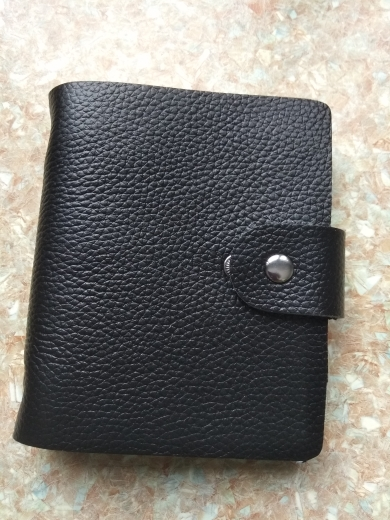 100% Genuine Leather Credit Card Holder Men Card ID Holder Case Women Business Card Holder Large capacity with 60 Slots MC-902 photo review