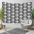 Altro Bianco Nero Geometrica del Damasco Club Vintage 3D Stampa Decorativa Hippi Della Boemia di Attaccatura di Parete di Paesaggio Arazzo Da Parete di Arte