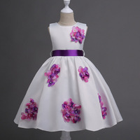 2 14 Years Baby Frock Designs White Prom Girls Dresses For Wedding Birthday Event Party Dress