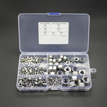 165pcs Stainless Steel Nylon Insert Locknut Assortment Kit M3 M4 M5 M6 M8 M10 M12