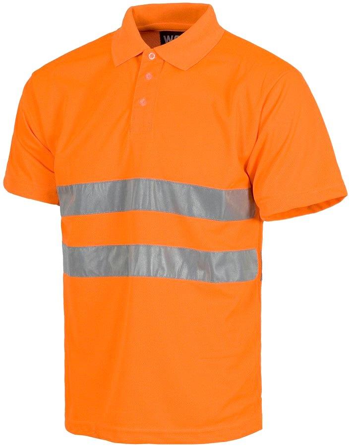 Оранжевое поло с высокой вязкостью