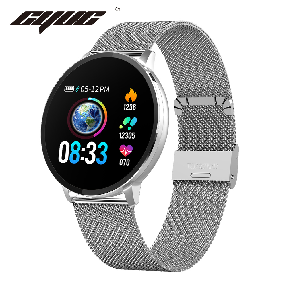 CYUC NY03 Sports mart Watch Heart rate monitor IP68 Waterproof Smartwatch Fitness Tracker with H band APP for android and IOS image