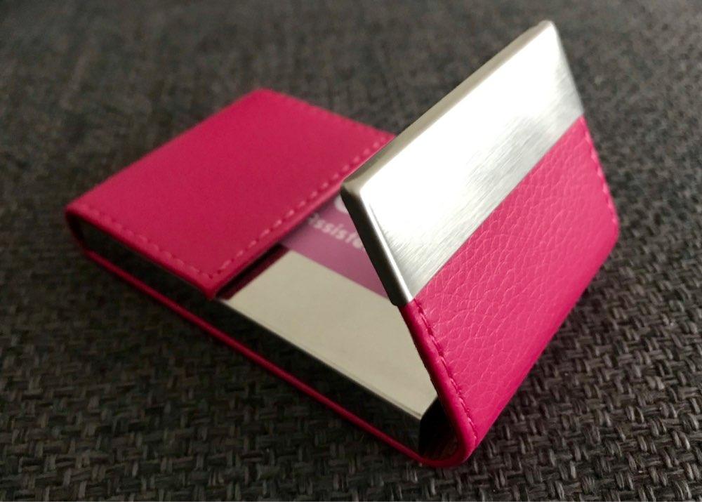 Luxe merk Creditcard dames heren Pakketkaarthouder Dubbel open visitekaartje Case porte carte organizador kaarthouder #5 photo review