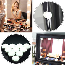 Hollywood Style LED Makeup Mirror Lights Vanity Table Bathroom Dimmable LED Makeup Mirror Light Bulb Kit For Dressing Table