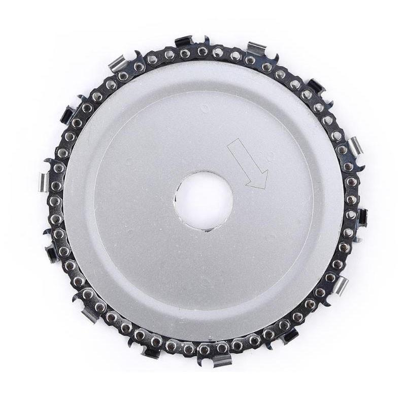 Hardness 5 Inch Wood Carving Disc 14 Tooth Grinder Disc With Chain Saw Blades For Angle Grinder Carpenter Wood Cutting Tools in Saw Blades from Tools
