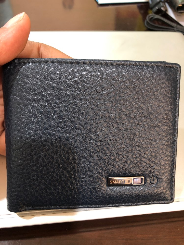 Smart Wallet Men Genuine Leather High Quality Anti Lost Intelligent Bluetooth Purse Male Card Holders Suit for IOS, Android photo review