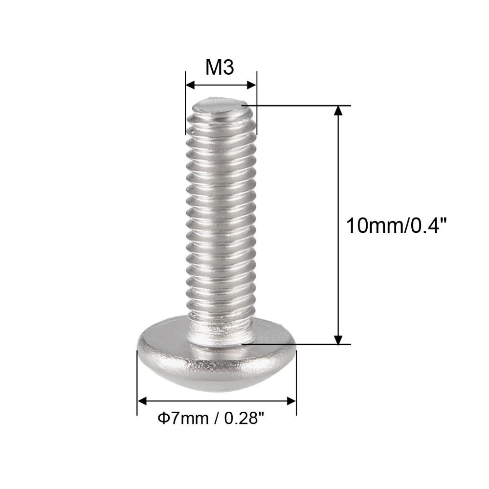 uxcell M3x10mm 304 Stainless Steel Flat Head Torx Machine Screws Fastener 50pcs