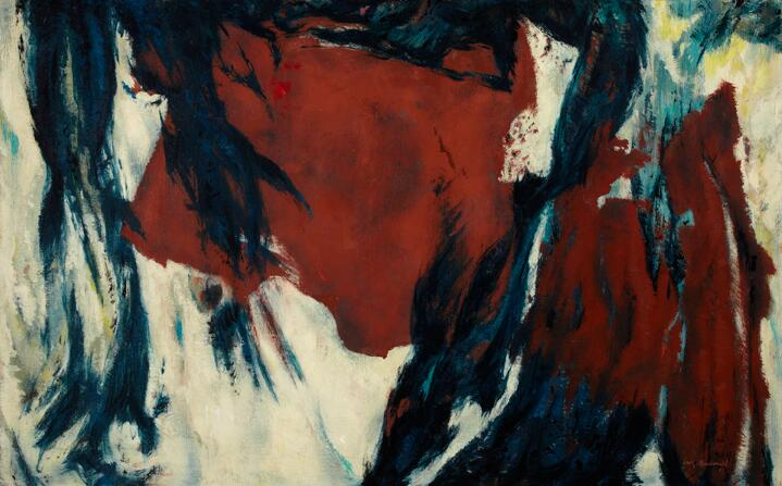 High quality Oil painting Canvas Reproductions Flood Tide (1957)  by Jock Macdonald  hand paintedHigh quality Oil painting Canvas Reproductions Flood Tide (1957)  by Jock Macdonald  hand painted