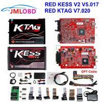 Online RED Kess v2 Master KESS v2 V5.017 No Token KTAG V7.020 OBD2 Manager Tuning Kit kess ktag ECU Programmer BDM adapter
