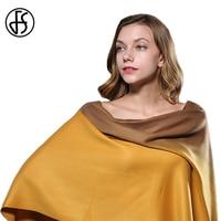 FS Gradient Color Tassel Cashmere Scarf Winter Warm Luxury Brand Long Scarves Women 2017 Wool Shawls